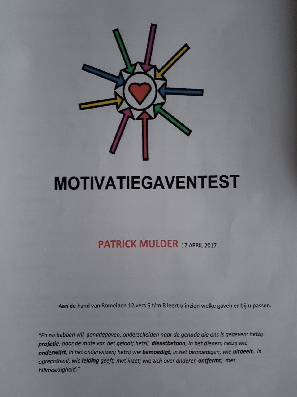 Motivatie­gaventest
